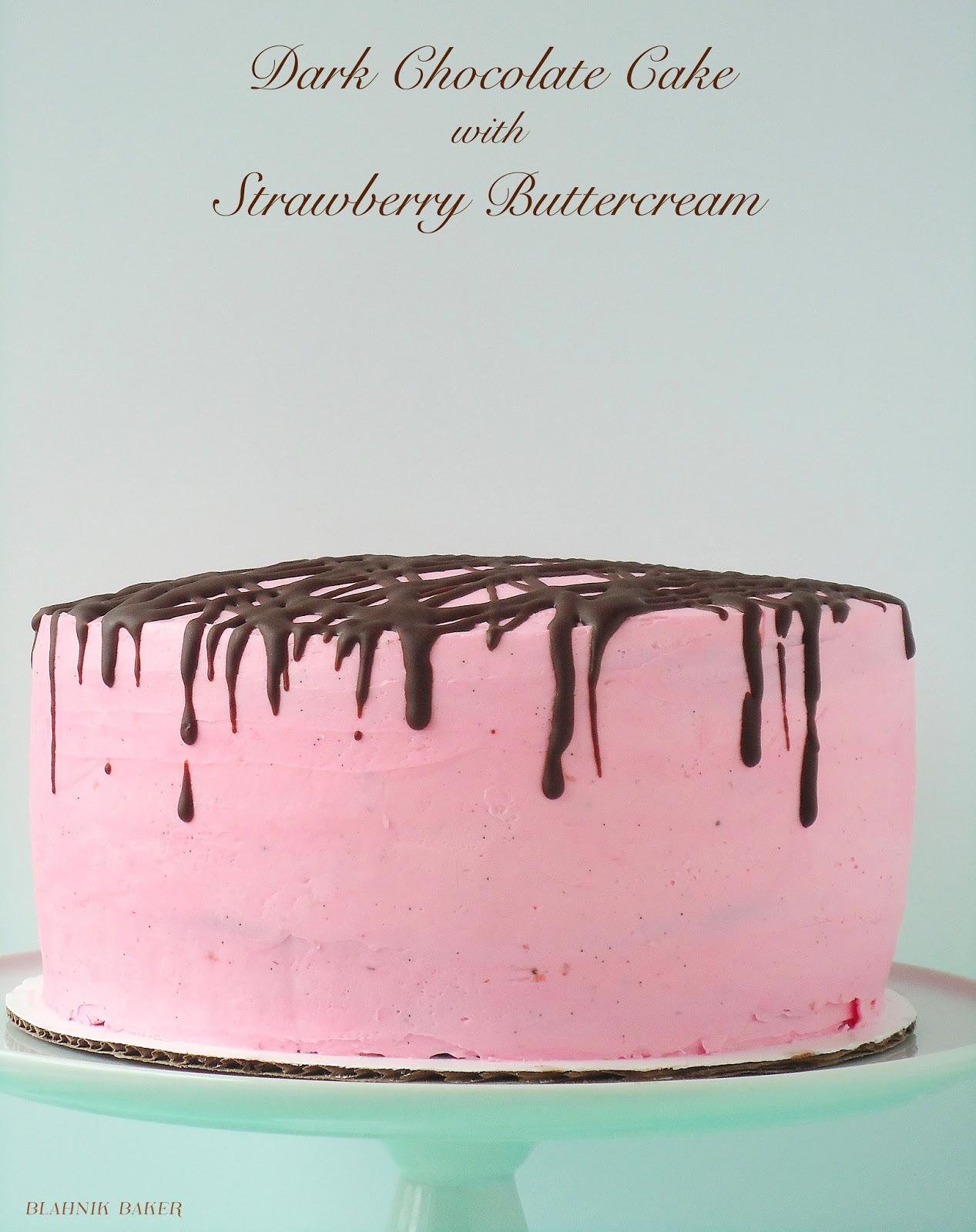 dark chcolate strawberry cake