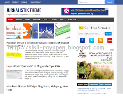 Jurnalistik Theme - Simple SEO Fast Responsive Blogger Template