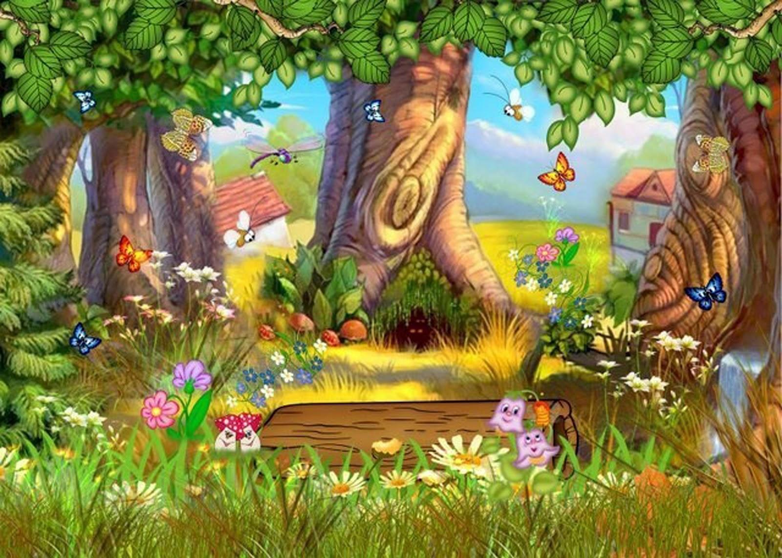 imagens jardim encantado : imagens jardim encantado:PSD Fairy Tale Forest Cartoon