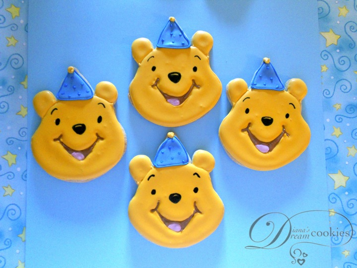 Dianas Dream Sweets Winnie The Pooh First Birthday Cookies