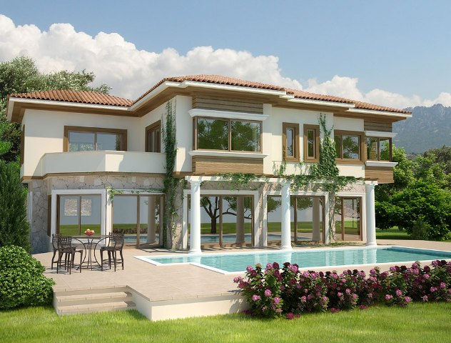 Cyprus villa designs exterior views modern home designs for Villas designs photos