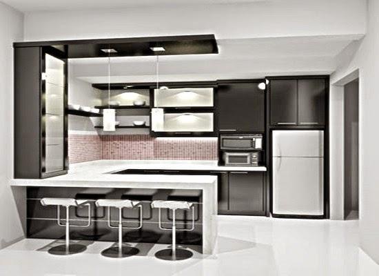 contoh desain rak dapur minimalis sederhana terbaru 2015