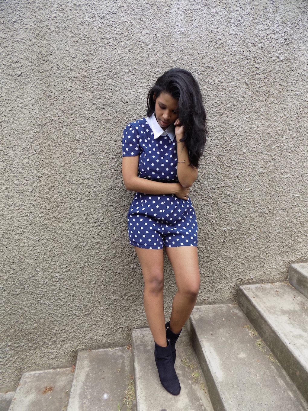 Fashion, Style, Ankle Boots, Jumpsuit, polka dots, Normadic, nicole norman