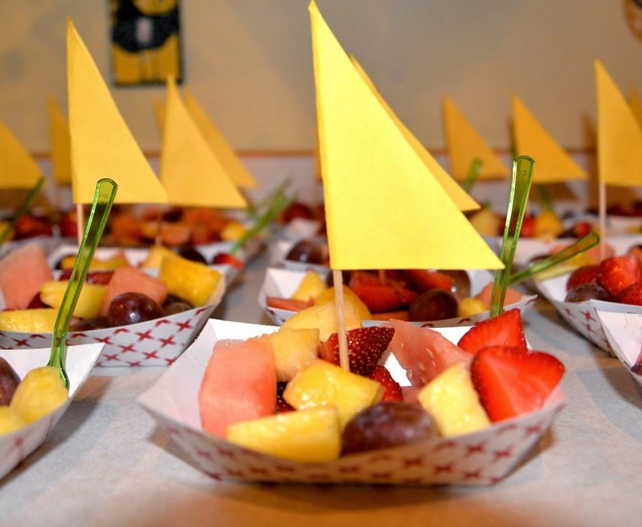 Barquitos de Fruta para mesa dulce