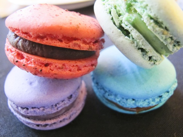Macarons in different flavors