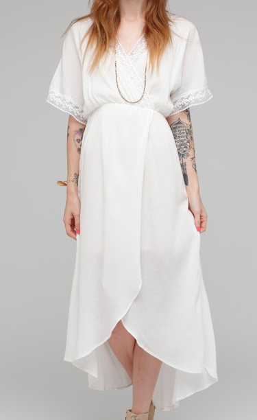 Need Supply Mirage white maxi dress