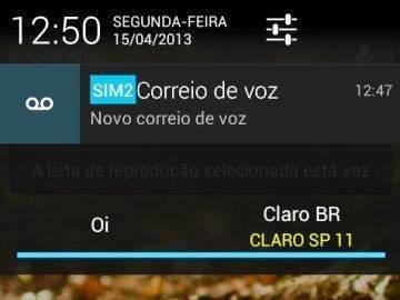 Mensagens são identificadas com o SIM de origem no smartphone Motorola RAZR D3
