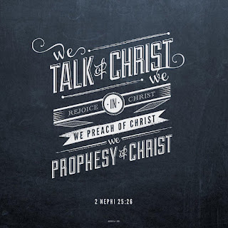 And we talk of Christ, we rejoice in Christ, we preach of Christ, we prophesy of Christ, and we write according to our prophecies, that our children may know to what source they may look for a remission of their sins. 2 Nephi 25:26