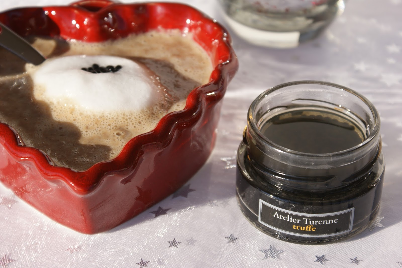 cappuccino de cèpes et perles de truffe