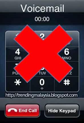 Jimatkan pelan pascabayar anda dengan mematikan service voicemail