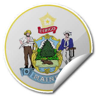 Sticker of Maine Seal