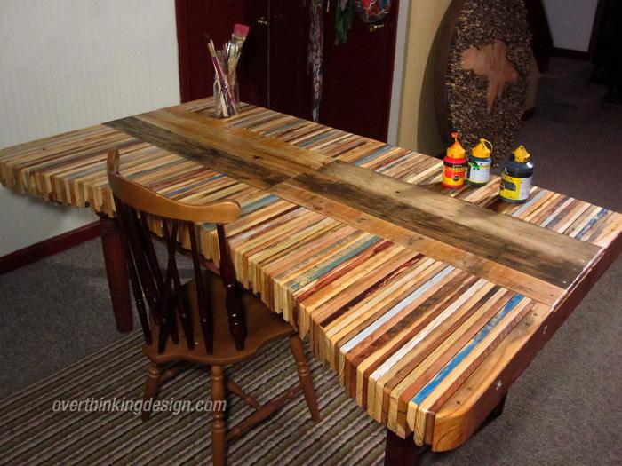 Mueblesdepalets.net: Mesa realizada con tablas de palets