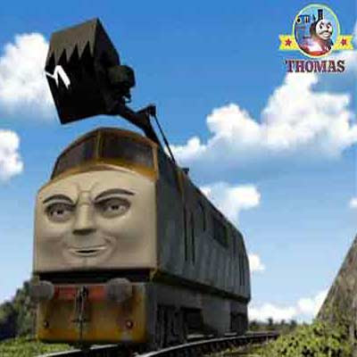 Fun but simply preschoolers kids puzzle Thomas the tank engine diesel 10 train jigsaw game online