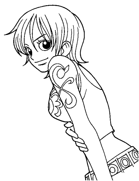 One Piece Anime Coloring Pages