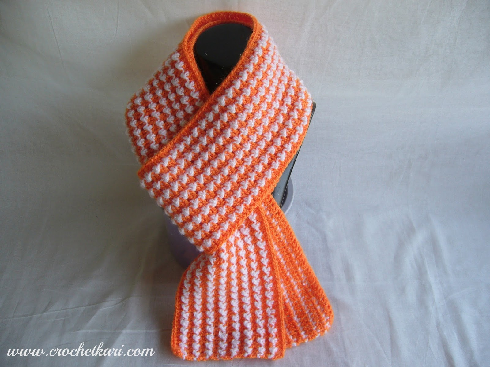 orange crochet scarf crochetkari