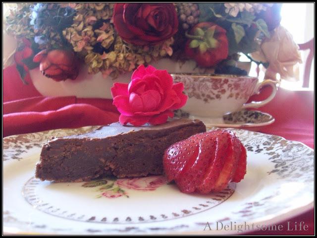 Reine de Saba, Julia Child recipe, chocolate, Strawberries