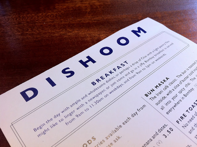 Dishoom Shoreditch review menu