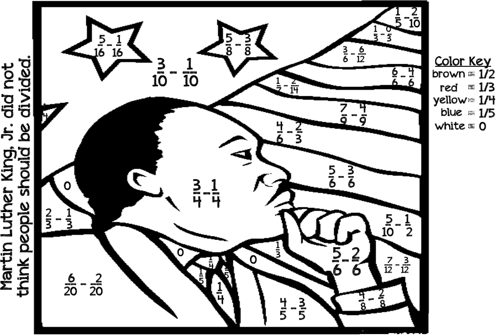 Martin Luther King, Jr. coloring sheet