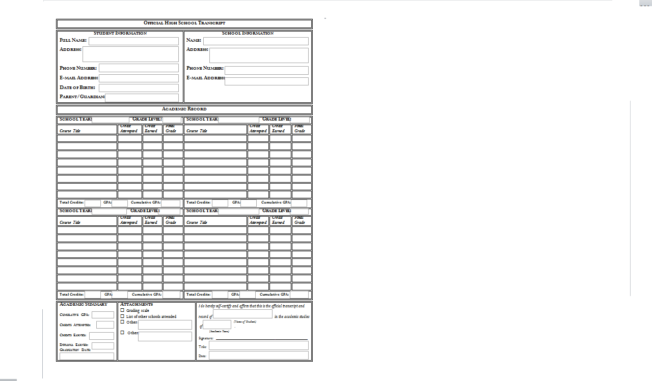 For one another help for homeschool transcripts for Homeschool transcript template pdf