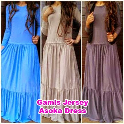 Gamis Jersey Asoka Dress | AzzahidahCollections.com