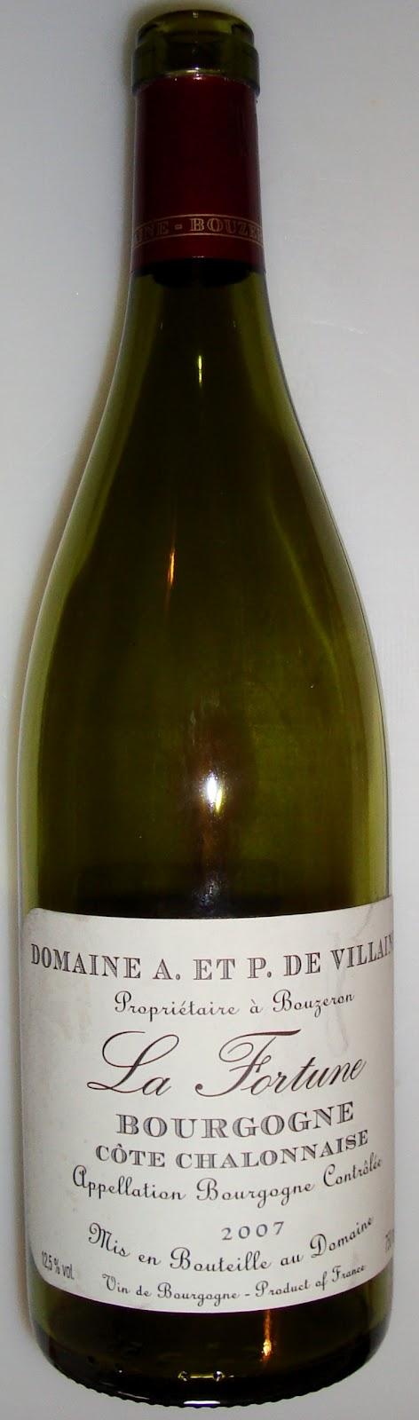 La verdad est en la copa o en plato la fortune 2007 for La fenetre a cote pinot noir 2012