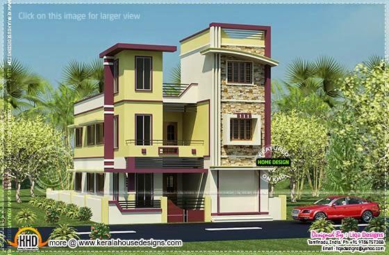 3 storied Tamilnadu house