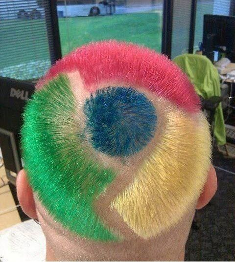 Browse My Head With Google Chrome Funny Hair Style