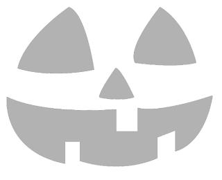 классический шаблон тыквы