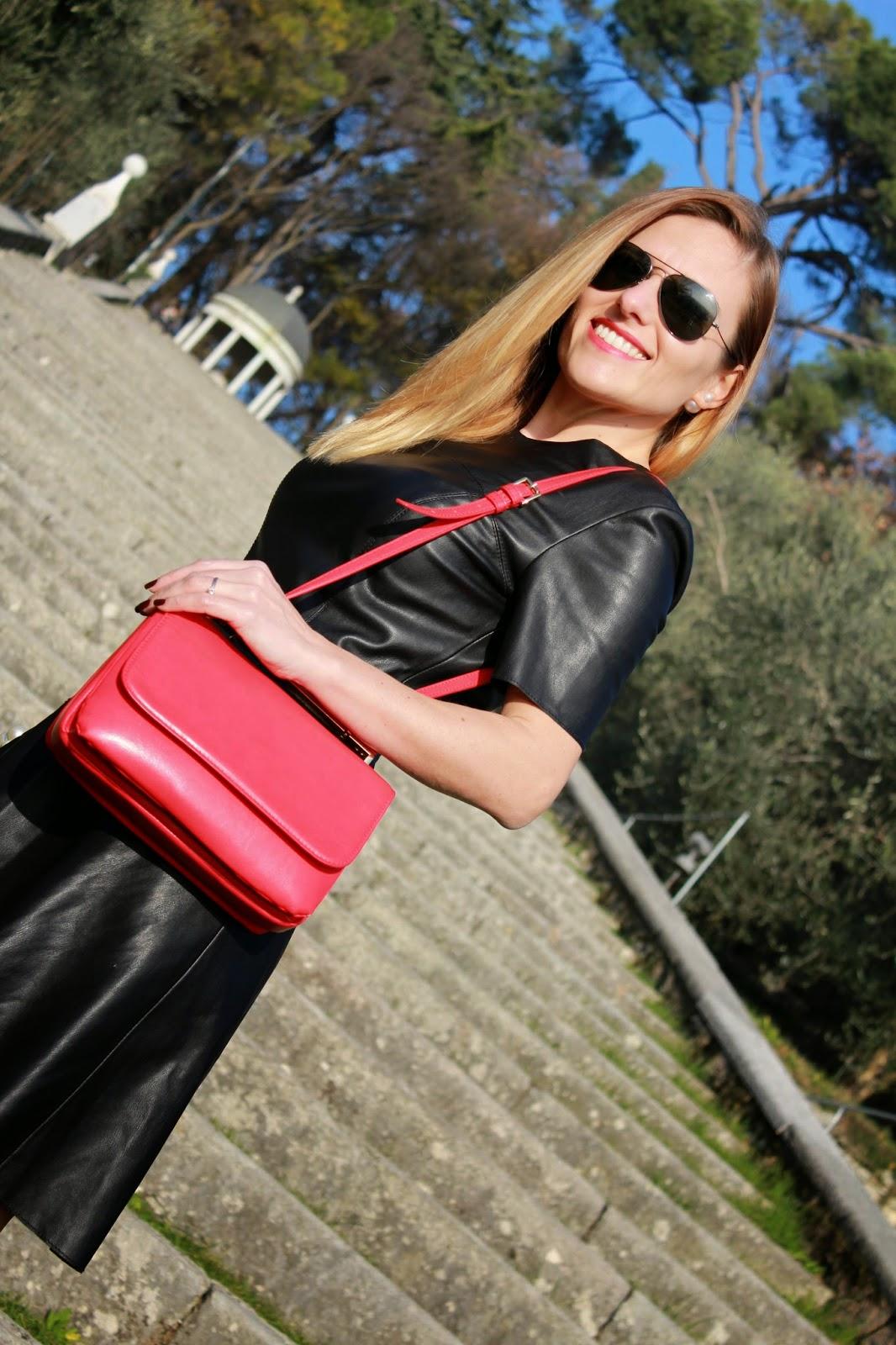 Eniwhere Fashion - Zara black leather dress
