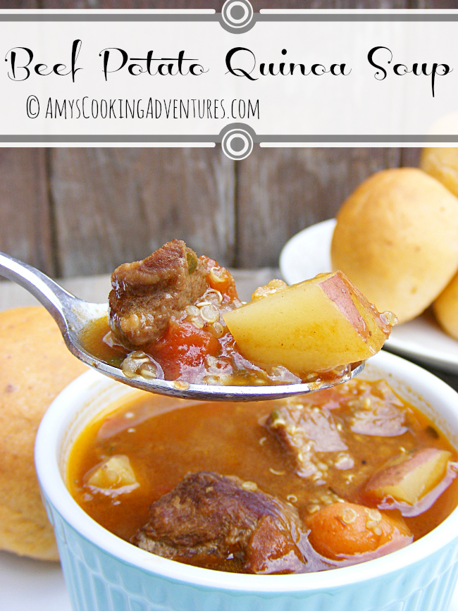Beef Potato Quinoa Soup: SRC
