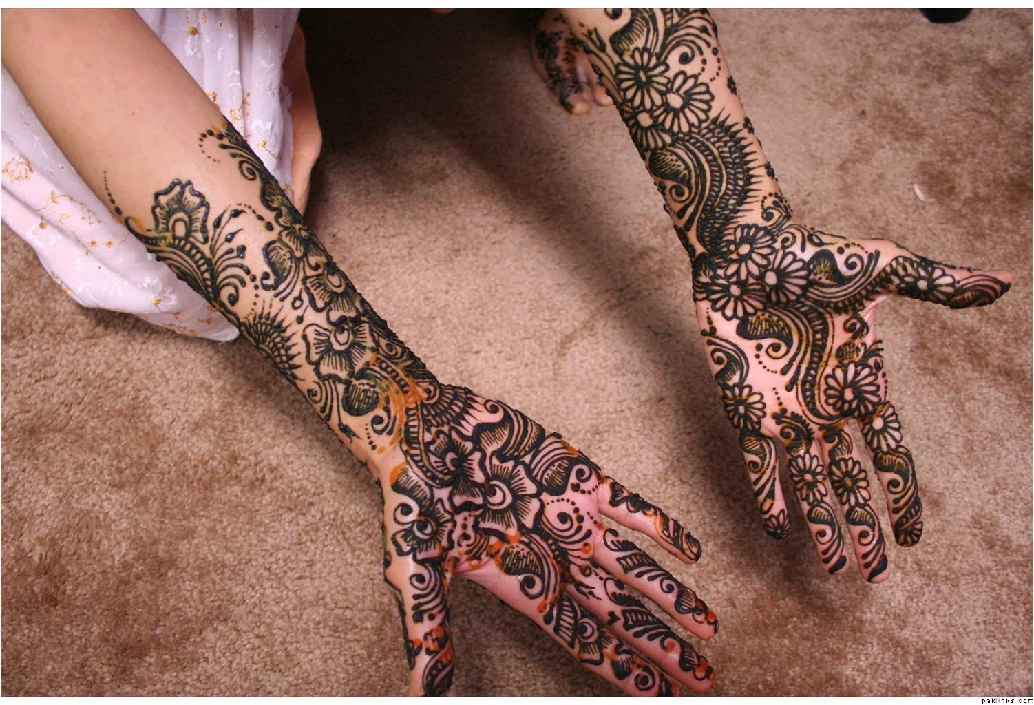 Mehndi For Front Hand Full : Beautiful latest simple arabic pakistani indian bridal