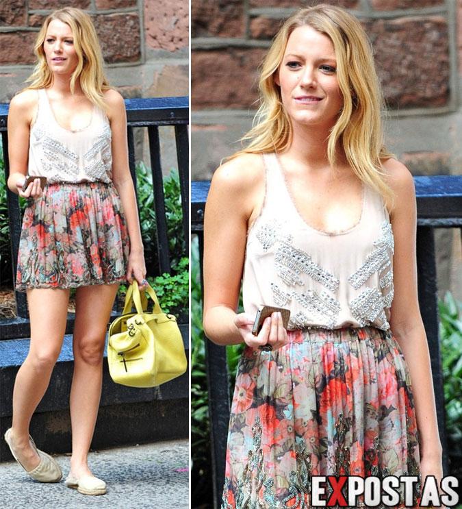 """Blake Lively: Set de filmagens de """"Gossip Girl"""" em new York - 02 de Julho de 2012"""