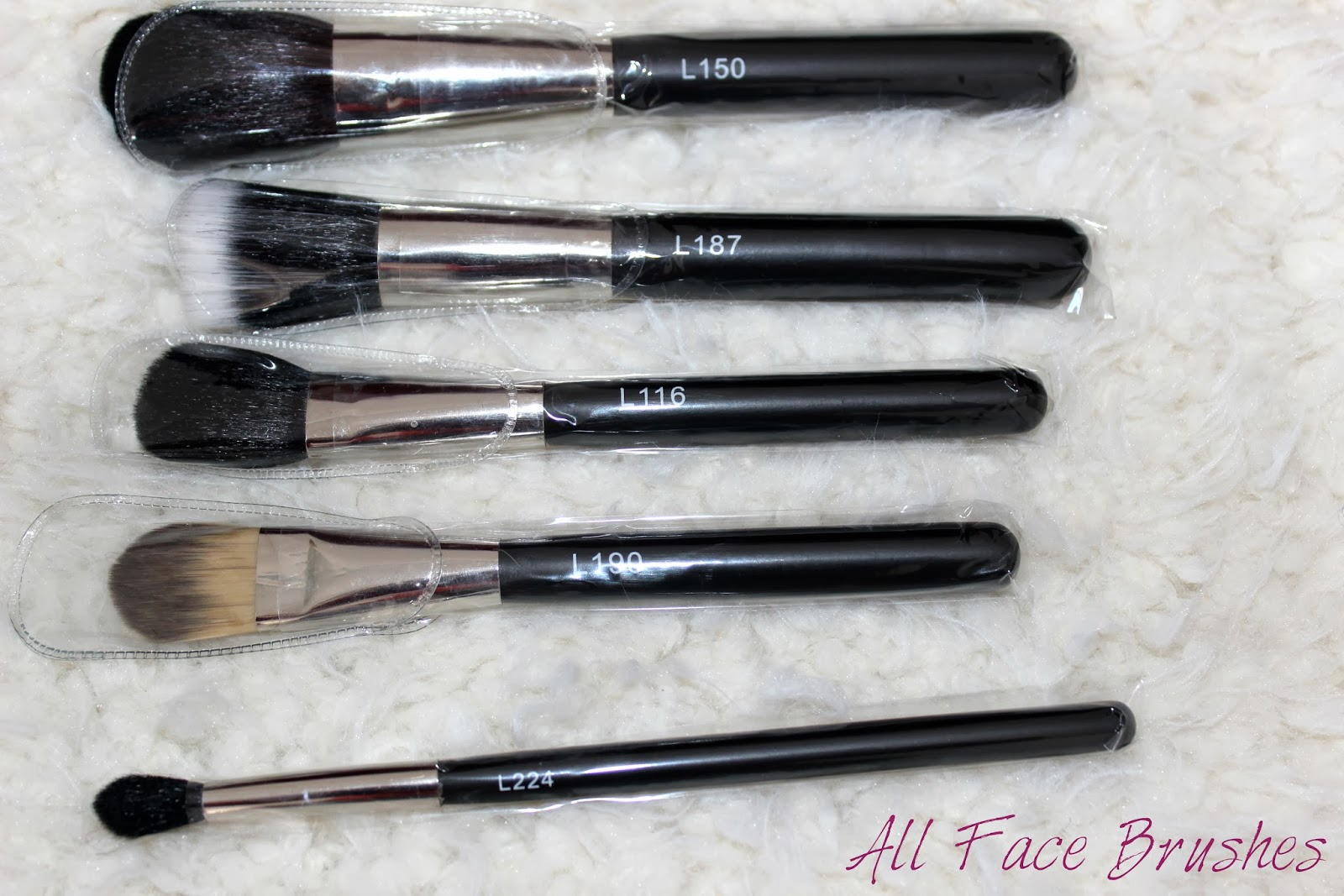 Luuux Brush Set Review Face Brushes