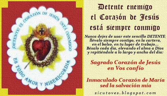 EL DETENTE DEL SAGRADO CORAZÓN DE JESÚS