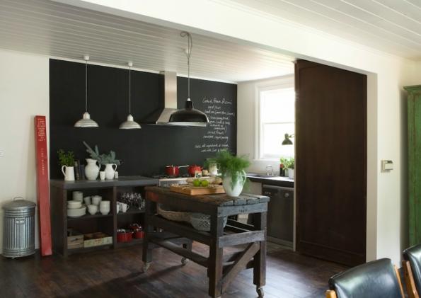 Studio rca arquitetura interiores lousa na cozinha - Lavagna cucina design ...
