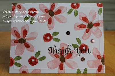 Card made with Garden in Bloom and Four You stamp sets.