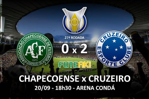 Veja o resumo da partida com os gols e os melhores momentos de Chapecoense 0x2 Cruzeiro pela 27ª rodada do Brasileirão 2015.