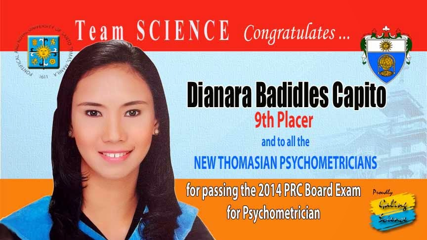 2014 Chemist And Psychometrician Licensure Examinations Board Topnotchers