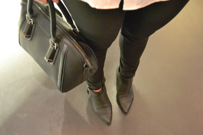 Topshop black bag, givenchy antigona look-a-like, Office Coven Side Zip Boot, black look, all black
