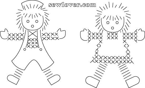 Las chorradikas de Laury: Patrón Muñequitos para bordar