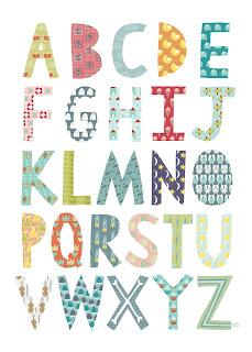 Olli Ella Alphabet Poster