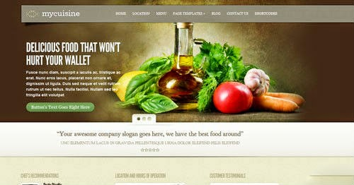 MyCuisine ElegantThemes Wordpress Theme Version 3.0 free