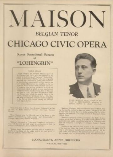 BELGIAN TENOR RENÉ MAISON (1895 - 1962) CD