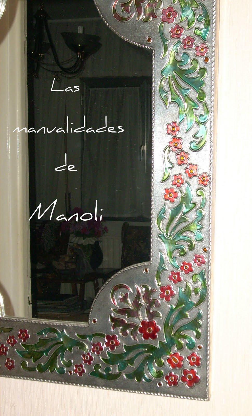 Las manualidades de Manoli: Espejos con marco de estaño