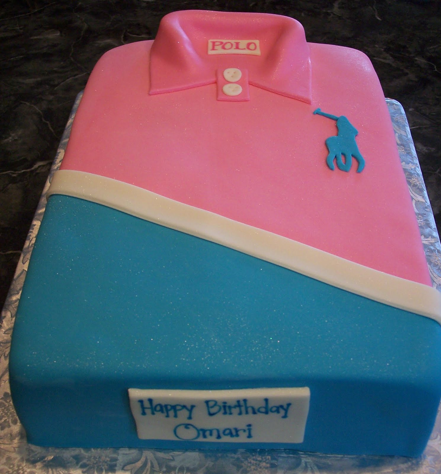 Cake Polo Shirt Design : MyMoniCakes: Pink & Blue Polo Shirt Cake