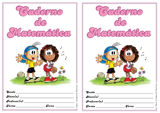 Capa de Caderno de Matemática Mig e Meg