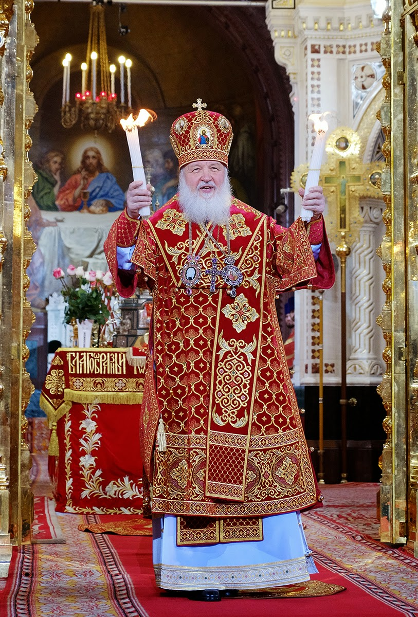 Patriarch Kirill of Moscow and All Russia. Easter 2014. Foto: www.patriarchia.ru