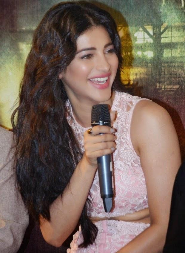 Shruti Haasan latest hot photos at Gabbar Is Back Trailer Launch