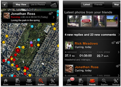 Sports Tracker App for iPhone
