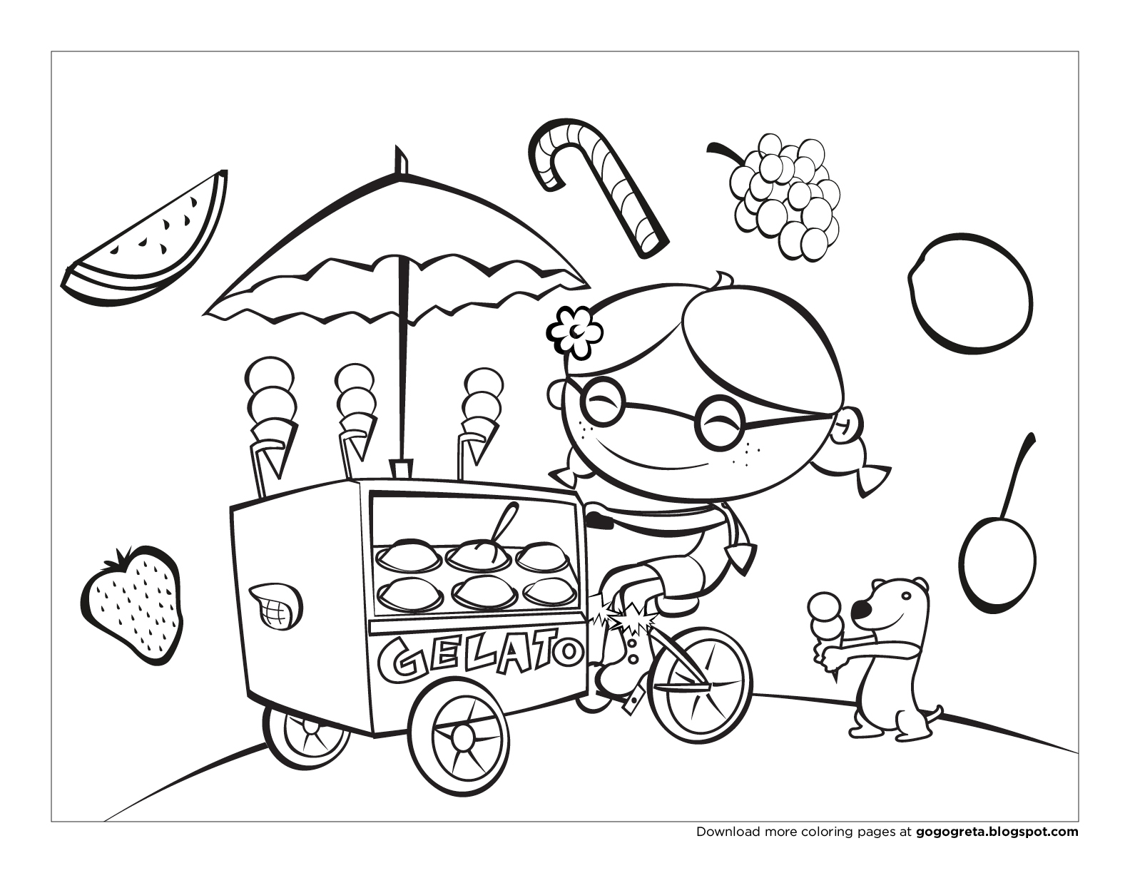 coloring pages for august - photo#26